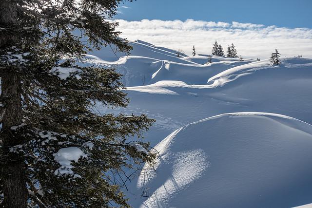 Winter karst landscape