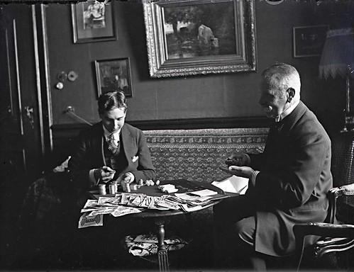 Jan de Goeijen met administrateur