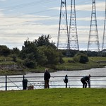 Fishing on the Bullnose at Preston Docks
