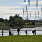 Fishing on the Bullnose at Preston Docks