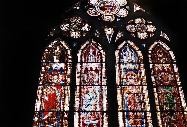 Straßburg 1987 (10) Kaiserfenster, Straßburger Münster