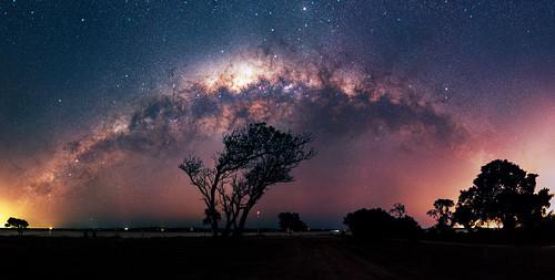 Milky Way setting at Herron Point, Western Australia