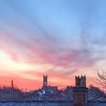 Dawn skies over Preston