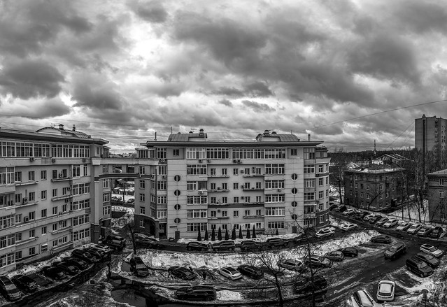 Moscow. Panorama. March.