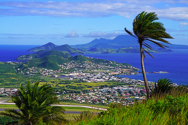 Between Atlantic Ocean & Carribeean Sea, St Kitts & Nevis