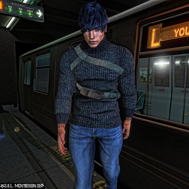 Exiting the subway