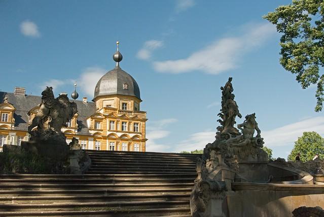 Schloss und Schlosspark Seehof in Memmelsdorf bei Bamberg / Upper Franconia / 04.07.2020 / 01004