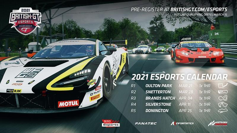 2021 British GT Esports Championship Calendar