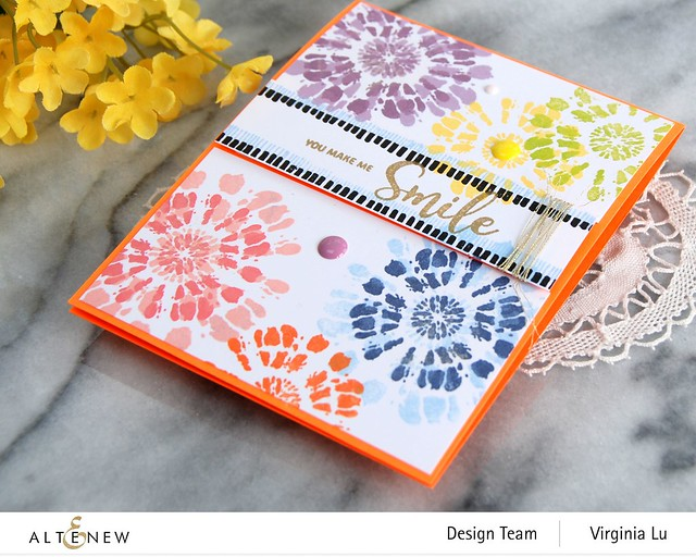 Altenew-Tie Dye Motifs Stamp Set-001
