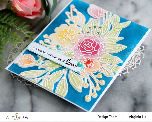 Altenew-Bouquet of Love Stamp & Die Bundle-002