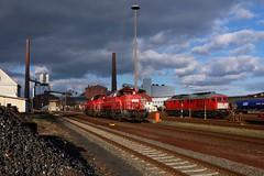DB 265 016 und 232 201 in Heringen