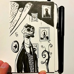 It's lunchtime, it's time to sketch something #mtl #montreal #oldmontreal #vieuxmontreal #ink #sketch #doodle #dailysketch #drawing #draw #artistoninstagram #arts #artist #vty_2021 #illustrations #illustration #comics #comix #bandedessinee #moleskine