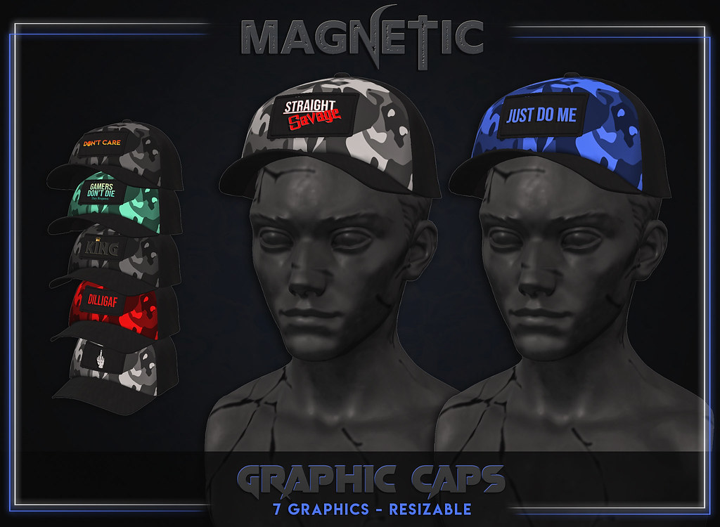 Magnetic – Men's Graphic Caps
