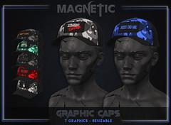 Magnetic - Men's Graphic Caps