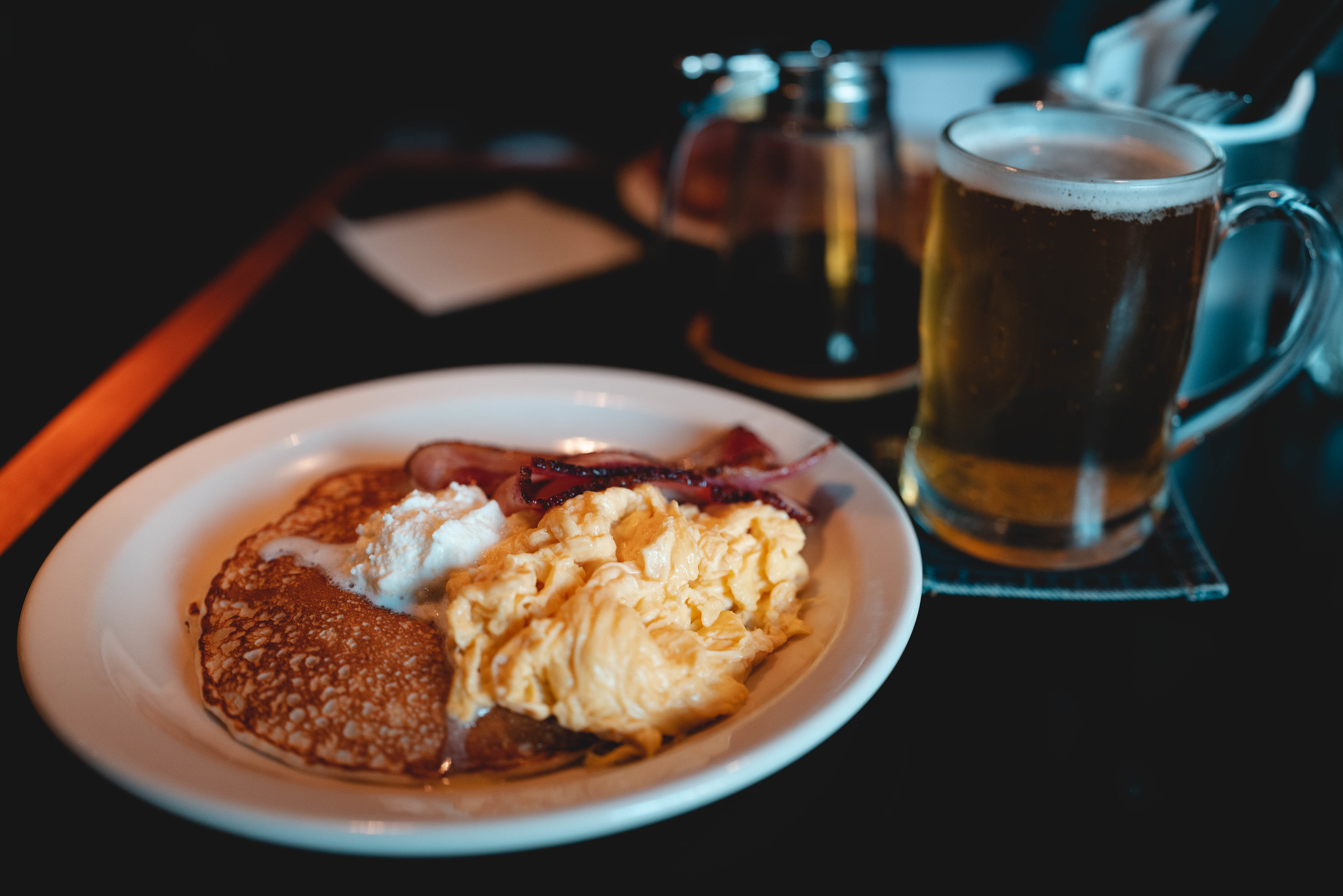 Pancakes and beer