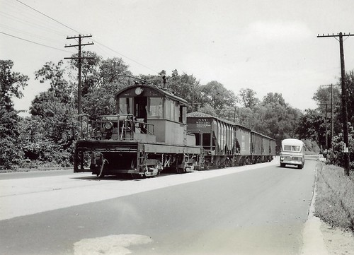 An Indiana Railroad motor delivers coal to a power plant