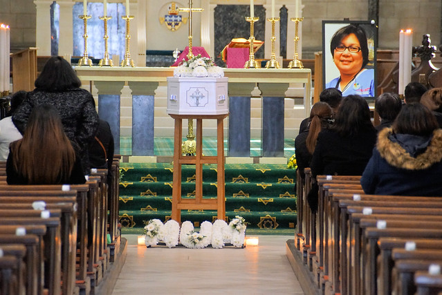 Estrella Catalan Funeral Mass St John's Norwich March2