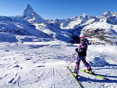 Pohled na Matterhorn ze sjezdovek na Gornergratu