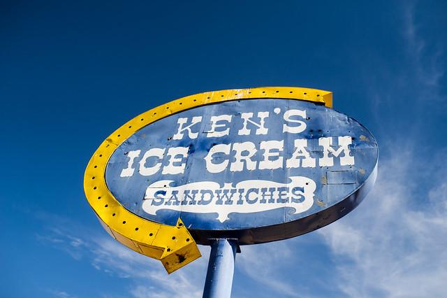 Ken's Ice Cream vintage sign