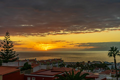 A view of Tenerife at sunset