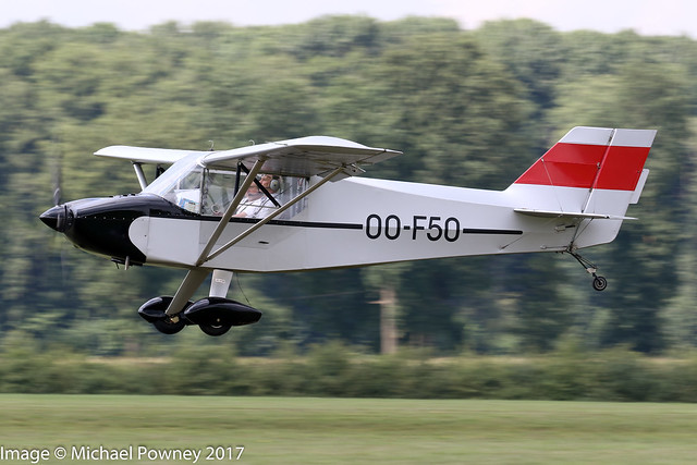 OO-F50 - 2007 build Rans S-6S Coyote II, departing from Schaffen-Diest during the the 2017 International Old Timer Fly-In