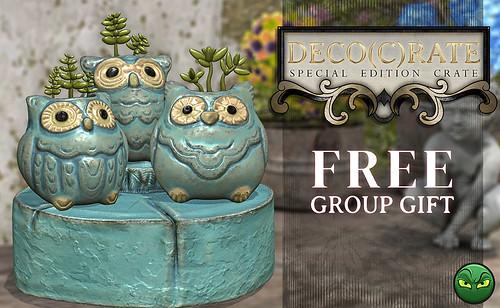 Deco(c)rate Group Gift: MadPea Owl Trio Planter