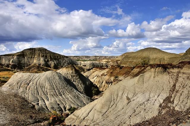 Badlands landscape, Dinosaur Provincial Park, Red Deer River Valley, Alberta.