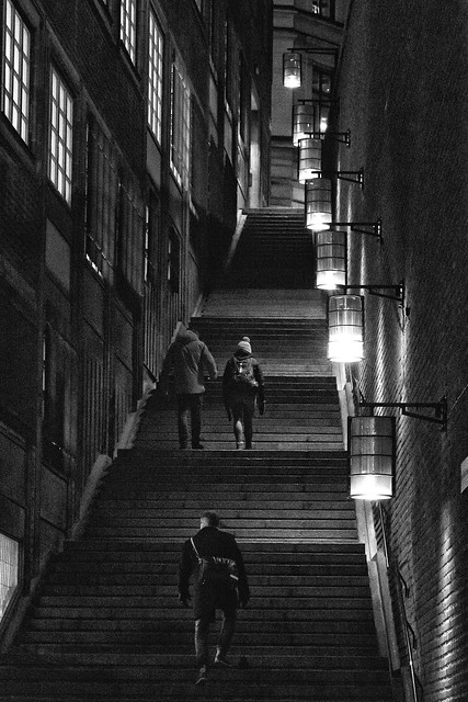 Steps & Lamps at Kungsgatan