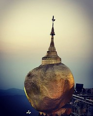 The Kyaiktiyo Pagoda is a small Buddhist pagoda built on the top of a granite boulder covered with gold leaves ud83dude2e ud83dudcf7@puma_travel.style Plan your next perfect trips ud83dude00 1. Start trip @ go-er.com 2. Add interests, get best recommend