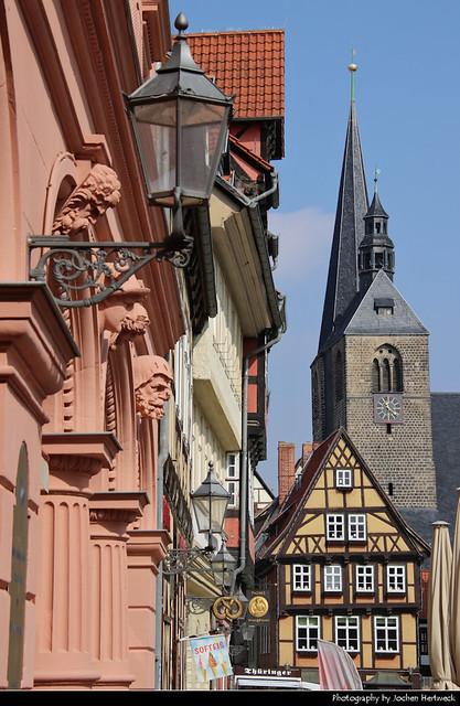 Markt & Marktkirche St. Benedikti, Quedlinburg, Germany