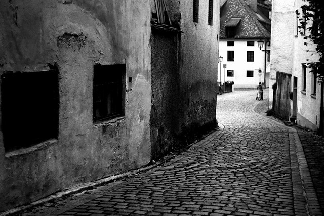 Old town, old lens, old camera