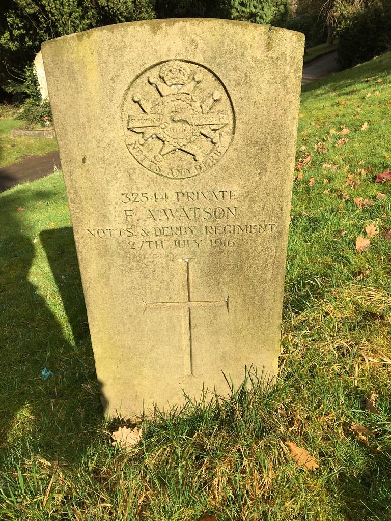 Watson F, Belper Cemetery, 05492, Derbyshire