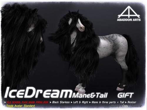ABADDON ARTS - Ice Dream FLEXI Mane & Tail Black