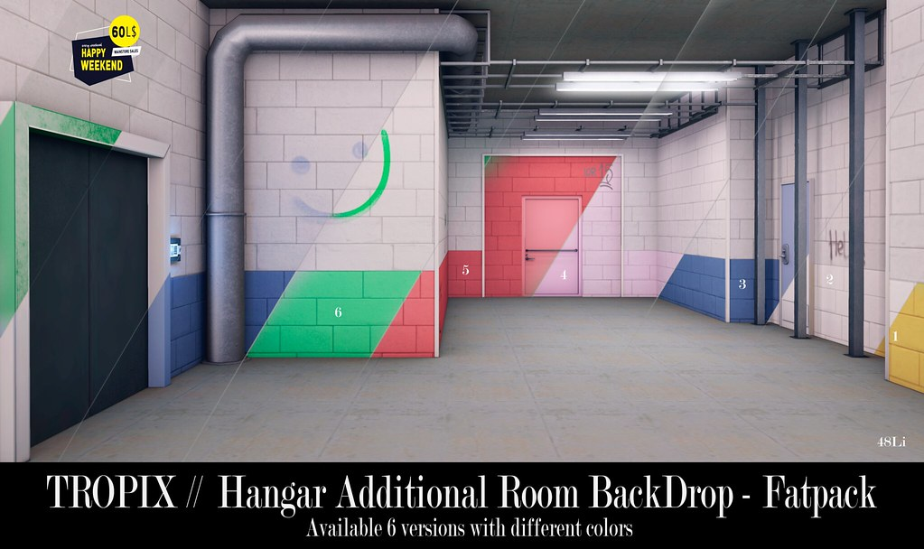 TROPIX // Hangar Additional Room BackDrop – Fatpack