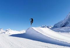 Snowpark na ledovci Theodul