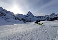 Červená trať č. 39 s výhledem na Matterhorn