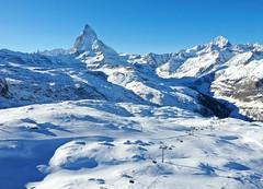 Sjezdovky z vrcholu Gornergrat