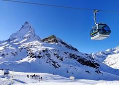 Pohled na Matterhorn ze Schwarzsee