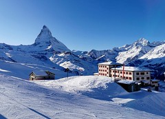 Pohled na Matterhorn z Riffelbergu