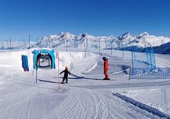 Funline vedle snowparku na ledovci Theodul