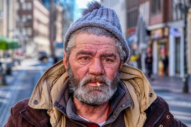 PORTRAIT OF A HOMELESS MAN