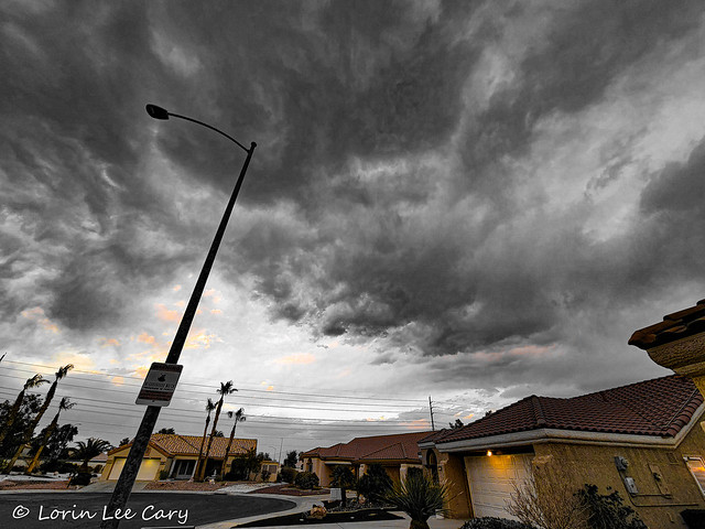 Storm On The Way: wired landscape series