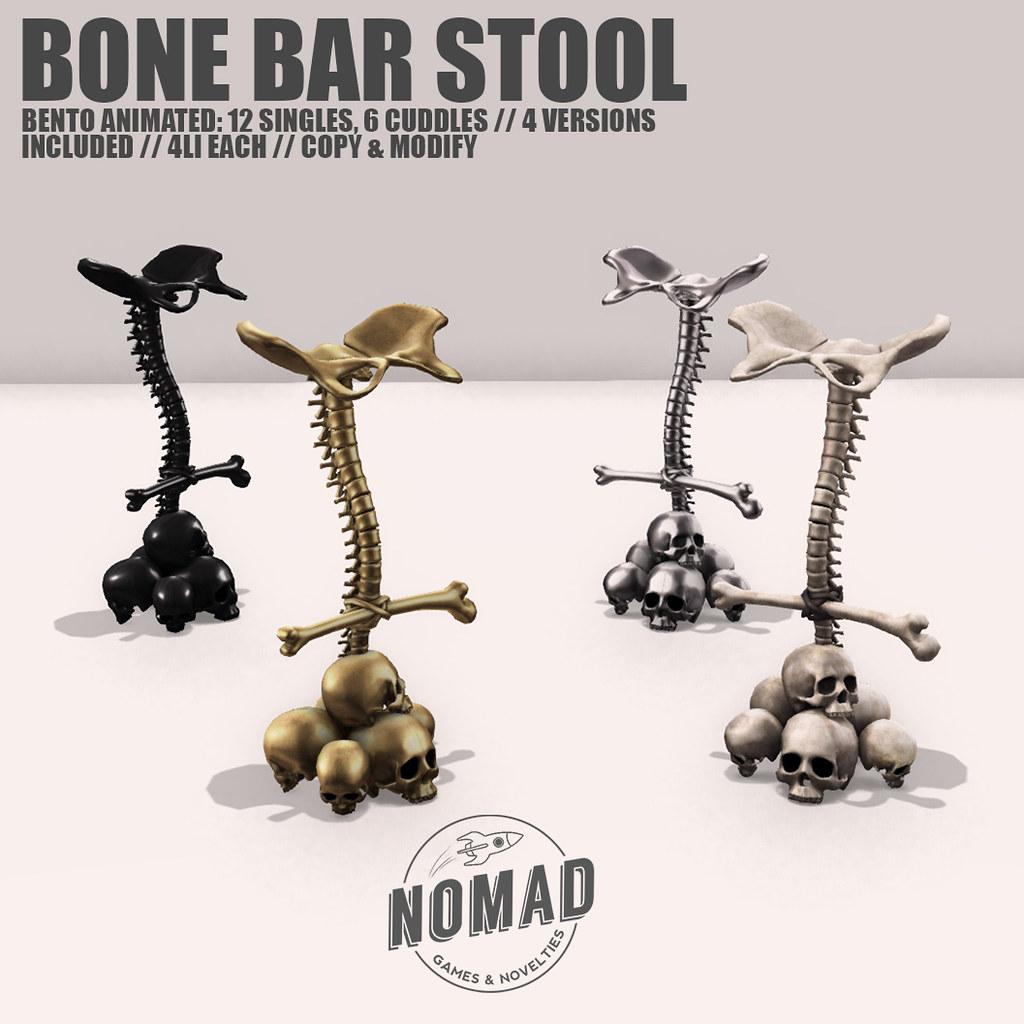 NOMAD // BONE BAR STOOL