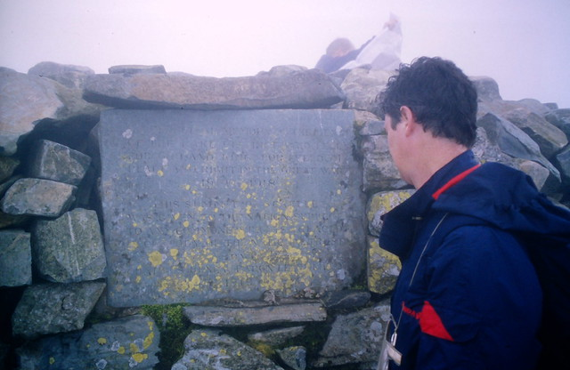 War memorial on Scafell Pike