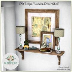 DD Bergin Wooden Decor Shelf-Ad