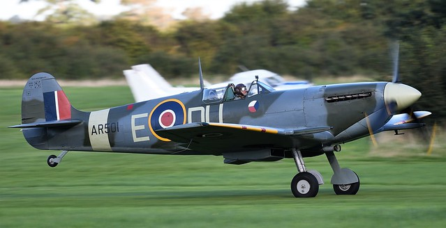 RAF Supermarine Spitfire LF Mk-VC AR501 G-AWII DU-E No 310 Czechoslovak Squadron