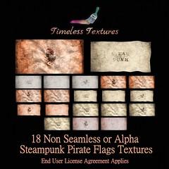 TT 18 Non Seamless or Alpha Steampunk Pirate Flags Timeless Textures