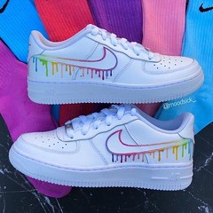 nike air max shoes : Nike air force 1 - custom sneakers - hand painted - rainbow custom drip - customized shoes #Shoes Follow us for daily inspiration & ideas!