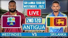 ud83dudd34LIVE West Indies vs Sri Lanka, 2nd T20I - Live   WI Vs SL 2021 Live #1stT20u200bu200bu200b #WIvsSLu200bu200bu200b