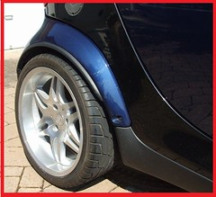 Smart wheel arch extensions suitable for fortwo 450